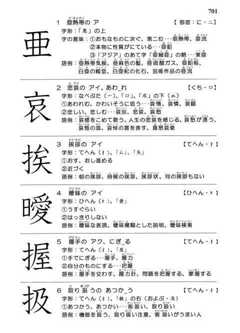 漢字 つく へん て の